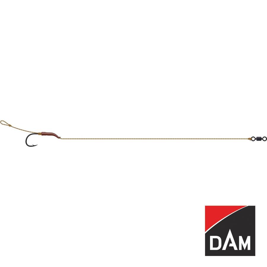 Gr.8 Kleines Angelzubehör Haken DAM Tactix Line Aligner Carp Rig 18cm 20lb 2 St