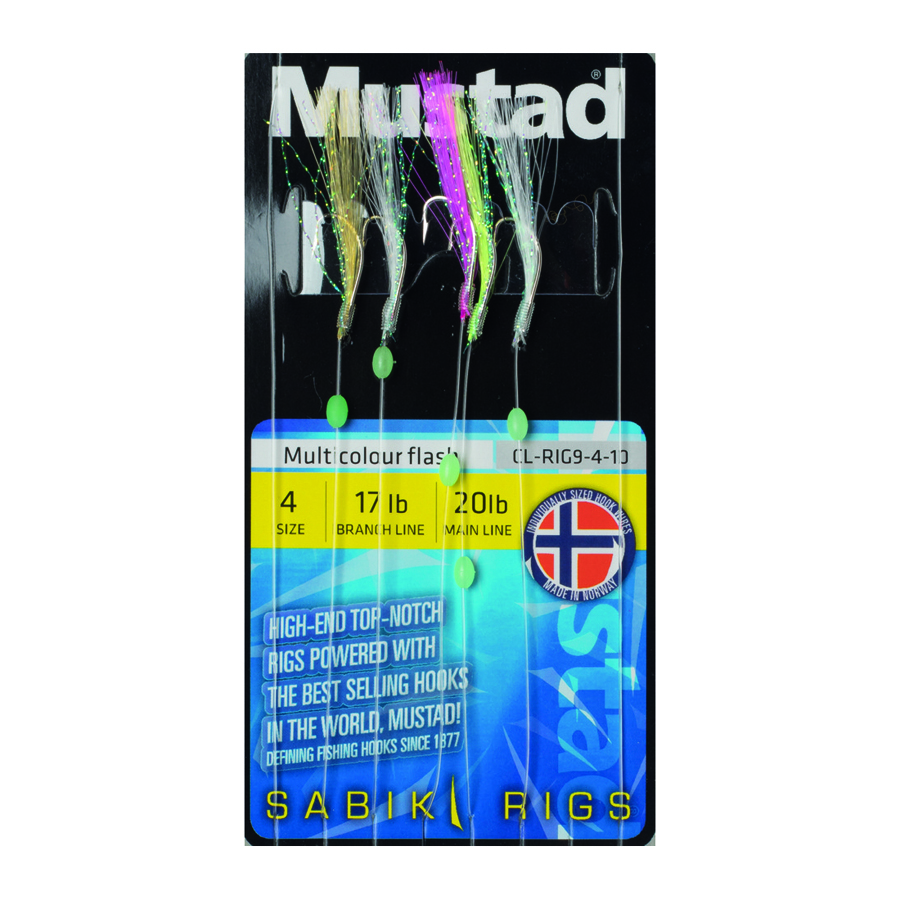 MULTICOLOUR FLASH MUSTAD RIG CL-RIG 9