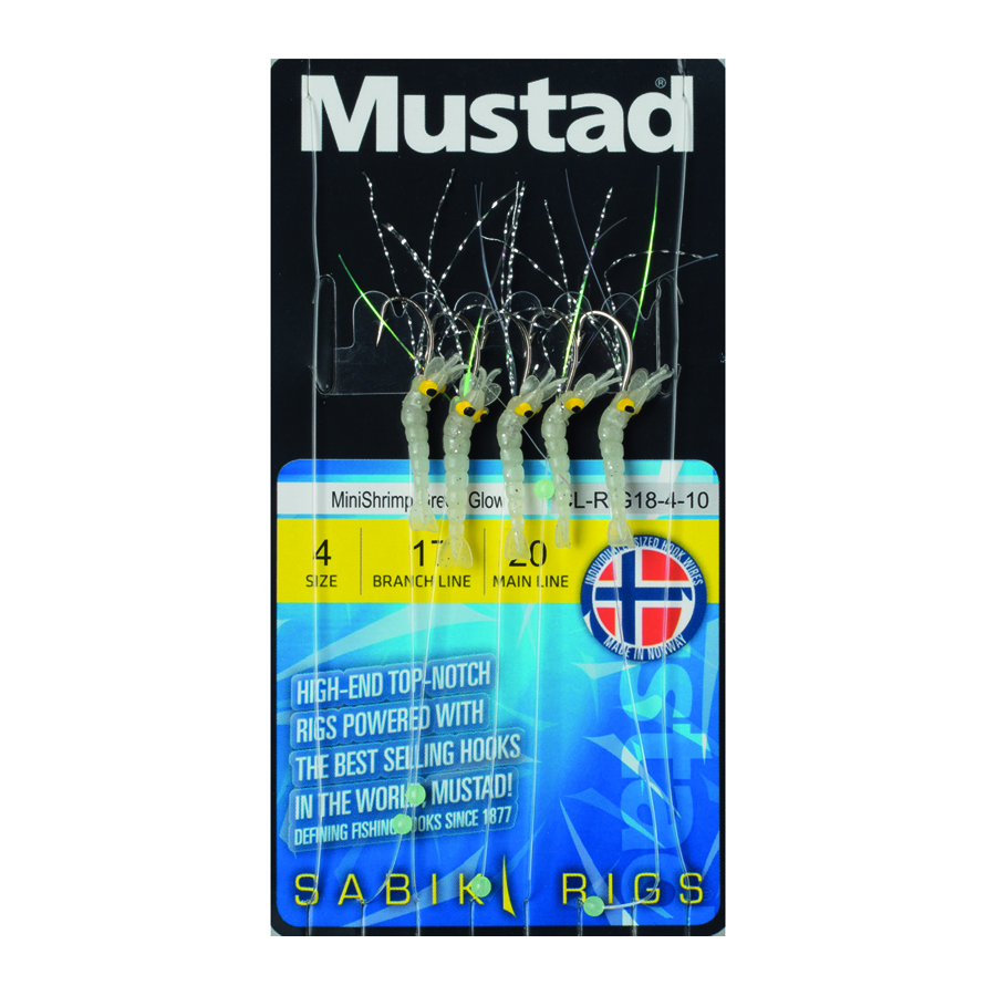 MINISHRIMP GREEN GLOW MUSTAD RIG CL-RIG 18