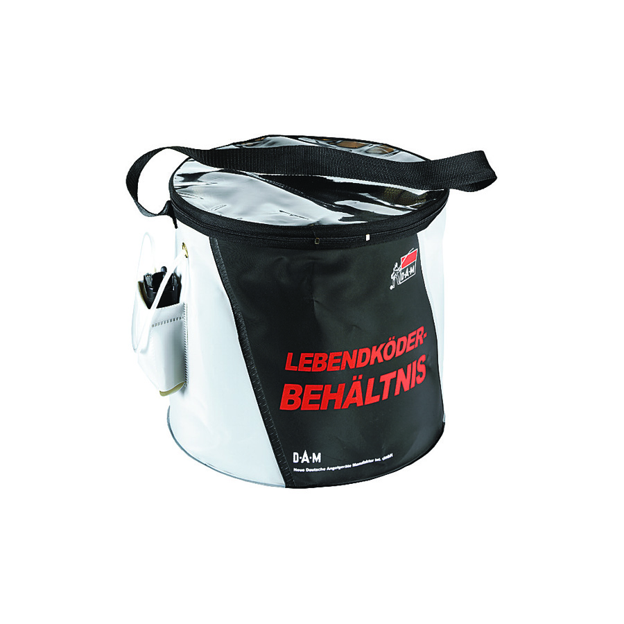 FOLDABLE LIVE BAIT BUCKET WITH OXYGEN PUMP