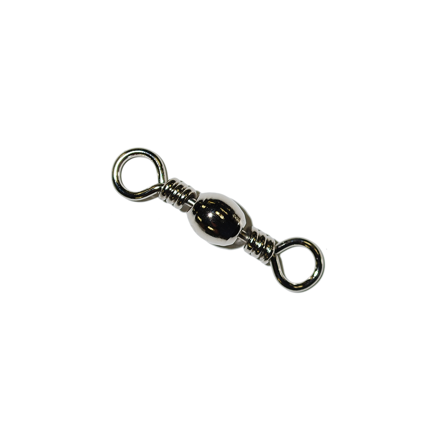 BRASS BAREL SWIVEL NICKEL